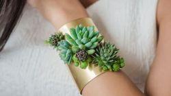 Voici les bijoux faits de plantes