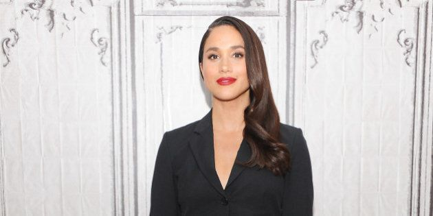 NEW YORK, NY - MARCH 17:  Actress Meghan Markle discusses her role in the very popular 'Suits during AOL Build at AOL Studios In New York on March 17, 2016 in New York City.  (Photo by Desiree Navarro/WireImage)