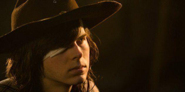 «The Walking Dead» saison 7 épisode 7: oups, Carl a eu l'œil plus gros que le