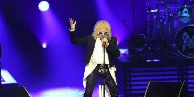 French singer Michel Polnareff performs on stage on November 08, 2016 in Nice, southeastern France. /...