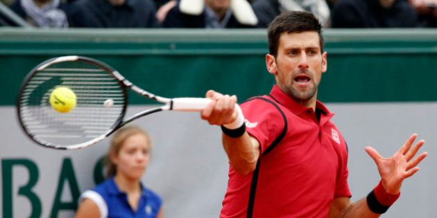 Tennis - French Open Mens Singles Semifinal match - Roland Garros - Novak Djokovic of Serbia v Dominic...