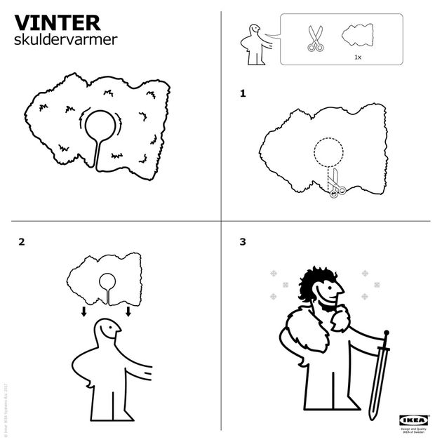 Ikea nous montre comment se faire une cape de «Game of