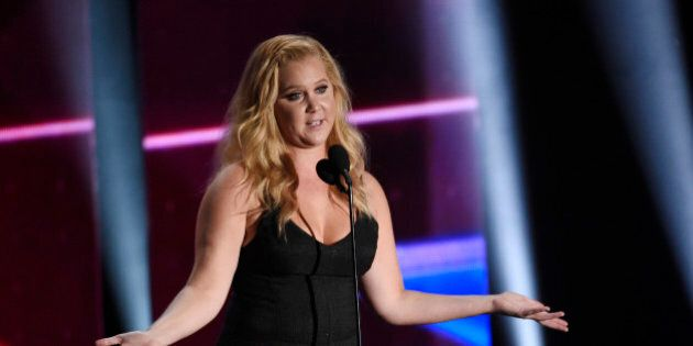 Honoree Amy Schumer addresses the audience at the 2015 BAFTA Los Angeles Britannia Awards at the Beverly Hilton on Friday, Oct. 30, 2015, in Beverly Hills, Calif. (Photo by Chris Pizzello/Invision/AP)
