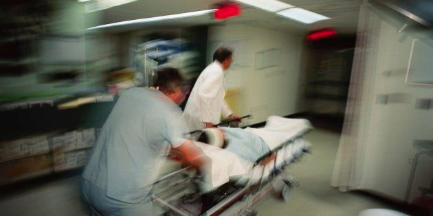 Patient Being Rushed to the Emergency