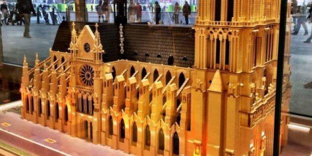 Des monuments plus vrais que nature dans la nouvelle boutique Lego à Paris