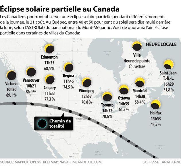 Découvrez le parcours et l'horaire de l'éclipse solaire prévue ce lundi 21