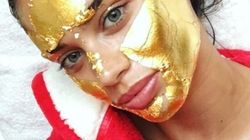 Les Anges de Victoria's Secret se font des masques... de feuilles d'or 24