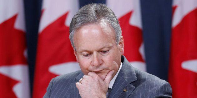Le gouverneur de la Banque du Canada Stephen Poloz lors d'une conférence de presse le 12 juillet