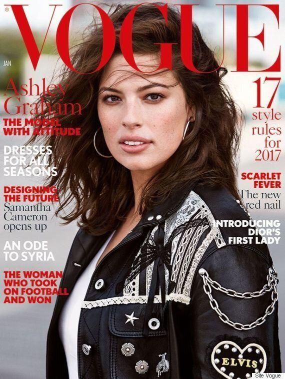 Ashley Graham fait sa première couverture du Vogue magazine