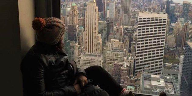 J'ai fait mon premier roadtrip à New York et le jour de ma fête, j'étais en haut du Rockfeller center...