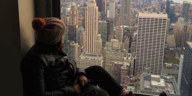 J'ai fait mon premier roadtrip à New York et le jour de ma fête, j'étais en haut du Rockfeller center à respirer à pleins poumons l'air glacial de la ville.
