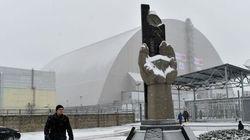 Le nouveau dôme métallique protégeant Tchernobyl mis en