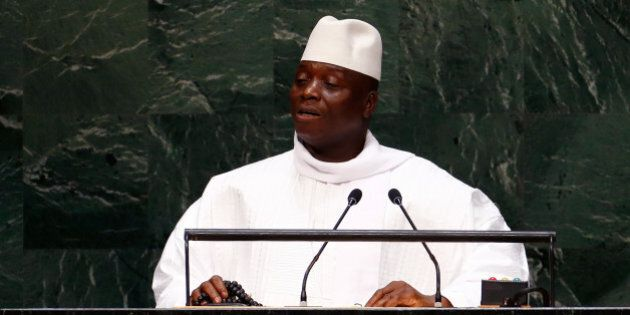 Al Hadji Yahya Jammeh, President of the Republic of the Gambia, addresses the 69th United Nations General...