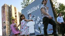 Sarajevo: une murale géante en hommage à