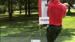 L'élan de golf d'Alex Galchenyuk nous fait toujours autant