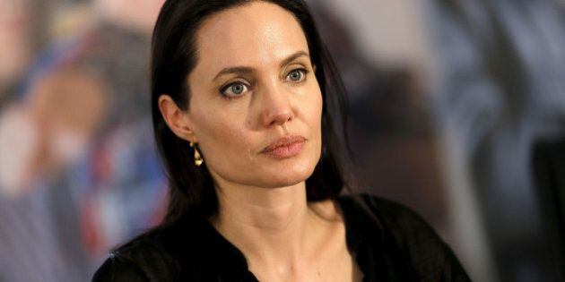 United Nations High Commissioner for Refugees (UNHCR) Special Envoy Angelina Jolie attends a news conference...