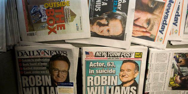La couverture médiatique sur le décès de Robin Williams n'a pas été