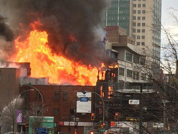Incendie majeur dans un bâtiment du quartier chinois à Montréal