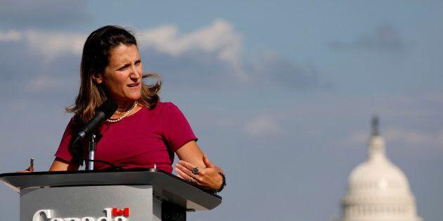 La ministre canadienne des Affaires étrangères Chrystia