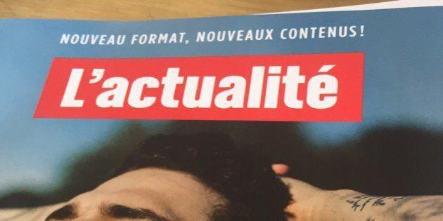 Le magazine L'actualité a dévoilé son nouveau