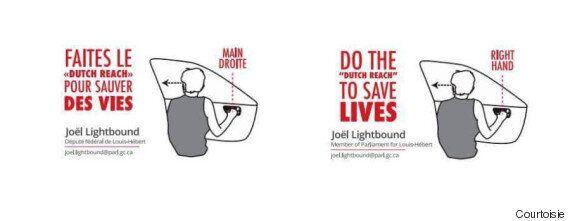 Sécurité routière : le député fédéral Joël Lightbound fait la promotion du «Dutch Reach»