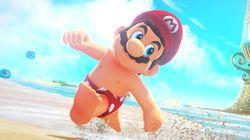 Les tétons de Mario amusent les