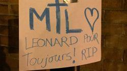 Hommage à Leonard Cohen devant sa maison de
