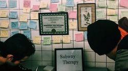 Grande thérapie de groupe dans le métro de New York après la victoire de