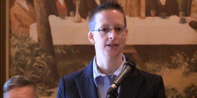Jennifer Drouin, la fondatrice d'Anglophones pour un Québec indépendant, se lance en