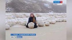 Des boules de neige géantes, de la taille d'un ballon de basket, sont apparues dans ce