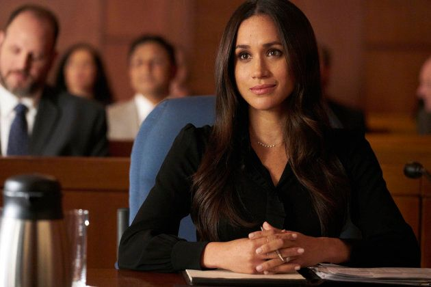 """SUITS -- """"Shame"""" Episode 709 -- Pictured: Meghan Markle as Rachel Zane -- (Photo by: Ian Watson/USA Network/NBCU Photo Bank via Getty Images)"""