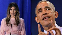 Présidentielle américaine: Barack et Melania à la