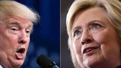 L'avance de Clinton sur Trump