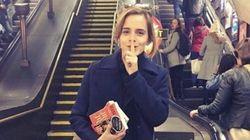 Emma Watson prépare-t-elle un mauvais coup dans le métro