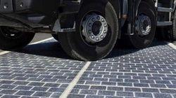 Des panneaux solaires sur les routes en essai en