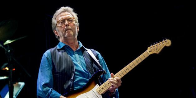 LONDON, ENGLAND - MAY 14: Eric Clapton performs at Royal Albert Hall on May 14, 2015 in London, United...