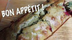 Un gâteau au thé vert matcha et aux
