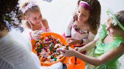 Les bonbons d'Halloween et les enfants, c'est
