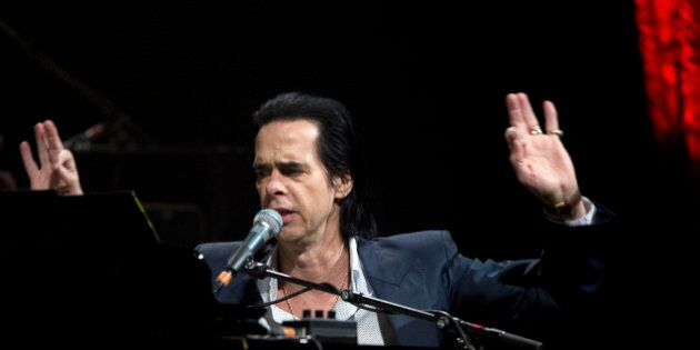 Australian singer Nick Cave performs on stage at the World Forum, The Hague, Netherlands, 16 May 2015....