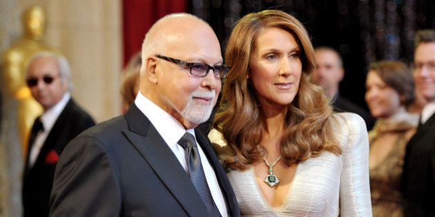 HOLLYWOOD, CA - FEBRUARY 27: Singers Rene Angelil and Celine Dion arrive at the 83rd Annual Academy Awards...
