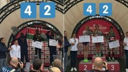 Au marathon de Bruxelles, le gagnant remporte 1000€, la gagnante...