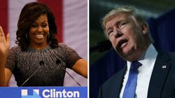 Clinton reprend la route, Trump attaque Michelle