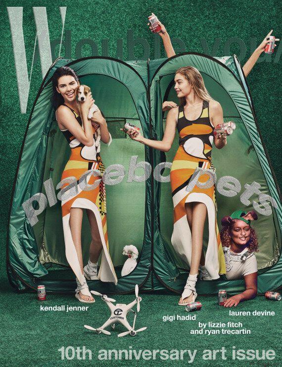 Photo trop retouchée : Kendall Jenner et Gigi Hadid n'ont plus de genoux dans la magazine