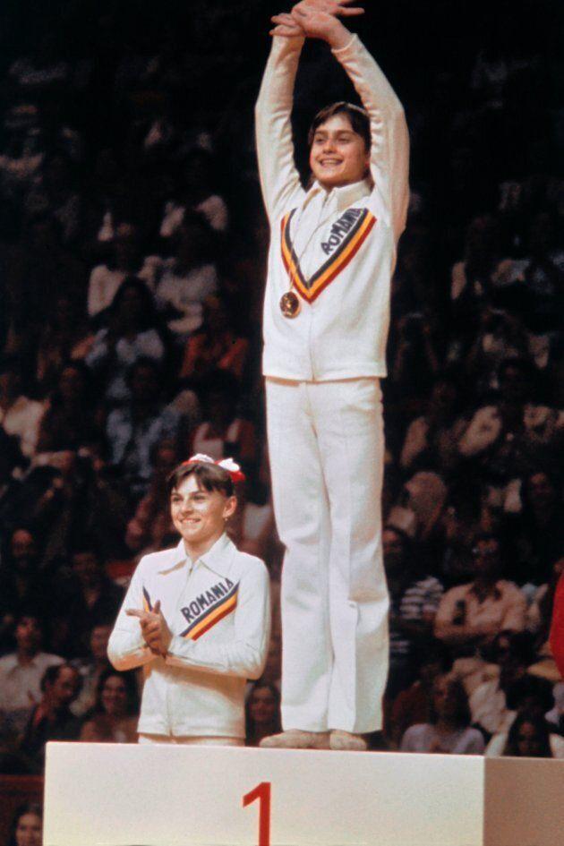 Nadia Comaneci, 14 ans, aux Jeux olympiques de Montréal de