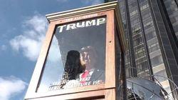 Un automate à l'effigie de Donald Trump dans à New