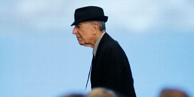 Musician Leonard Cohen takes the stage as he is honored at the 2012 Awards for Song Lyrics of Literary...