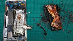 Prenez garde, ce téléphone intelligent de Samsung Galaxy explose et prend