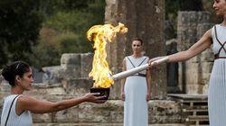 La flamme olympique «de secours» en route vers
