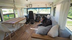 Ce couple transforme un autobus pour partir à