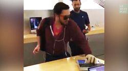 Un magasin Apple attaqué... à la boule de